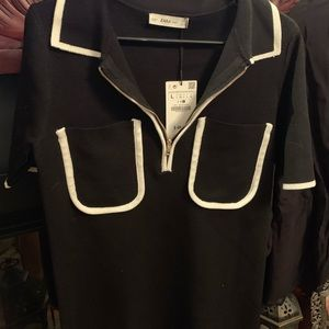Zara black knit dress